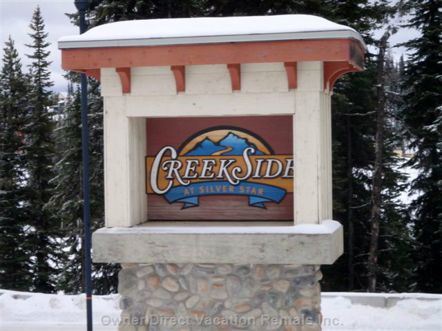 Creekside Welcome Sign Onsilver Star Road