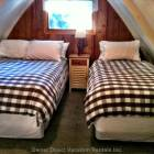 Double and Twin Beds.  Lots of Extra Space at the Foot of the Beds.