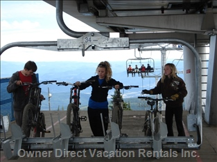 Mountain Bikers on the Lifts