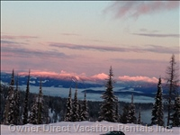 Sunset over the Monashee Mountains