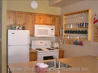 Fully Equipped Kitchen, Fridge, Stove, Microwave Dishwasher