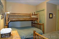BR #3 Queen and 2 Twins Sleeps 4, Pole Pine Beds
