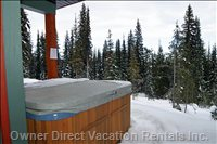 Covered Hot Tub on the Ski-way Side is Very Private