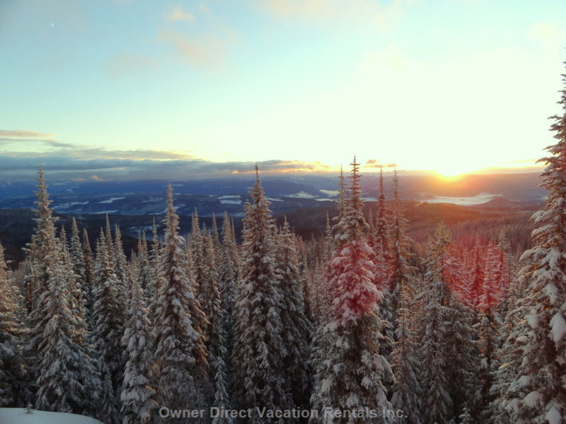 Sunrise View over the Monashee Mountain Range