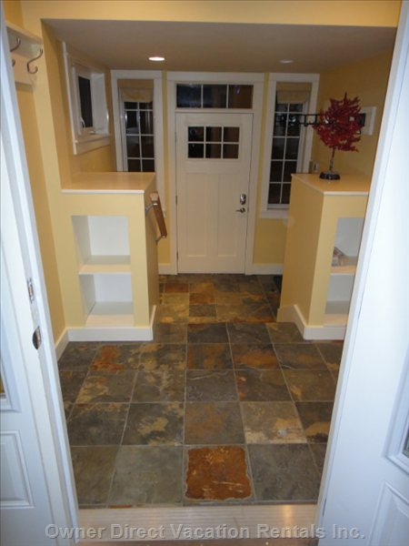 Main Entry with Ski Racks & Underfloor Heating