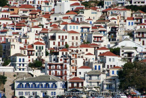 View on Skopelos Maintown