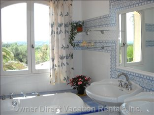 Upstairs Bathroom - with a Beautiful View!