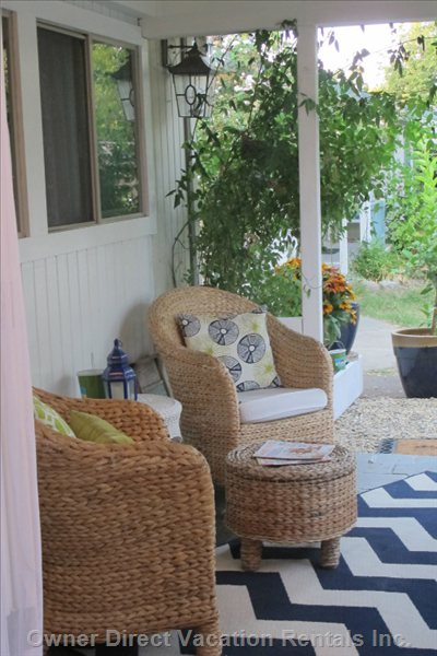 Chairs on Veranda to Enjoy Morning Coffee