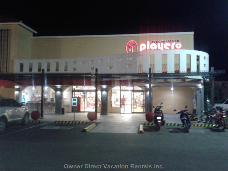 The Playero Supermarket is Only a 5 Min Walk Away