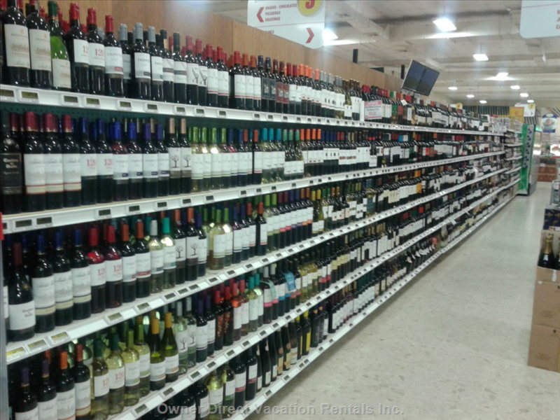 The Playero Supermarket has Everything you Could Need, Including a Large Selection of Alcohol