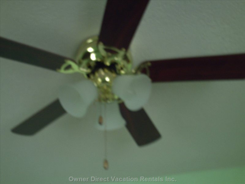 Overhead Fan for Extra Breeze