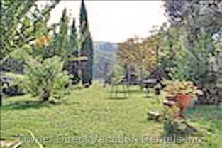 Upper Garden W/Pergola, Benches and Swing - with Pergola, Benches and Swing