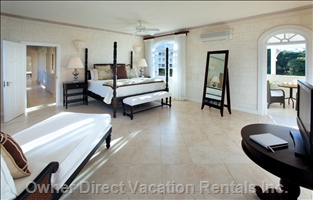 Two Master Bedroom Suites Upstairs Have Private Patios, Tvs, Safes and Phones