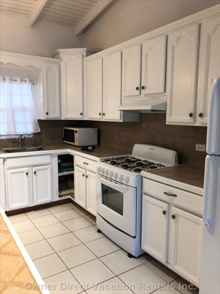 Large Fully Equipped Kitchen, Gas Stove, Fridge-Freezer, Dish Washer, Microwave, Coffee Maker, Toaster Oven and Etc.