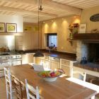 Kitchen with Open Fire Place