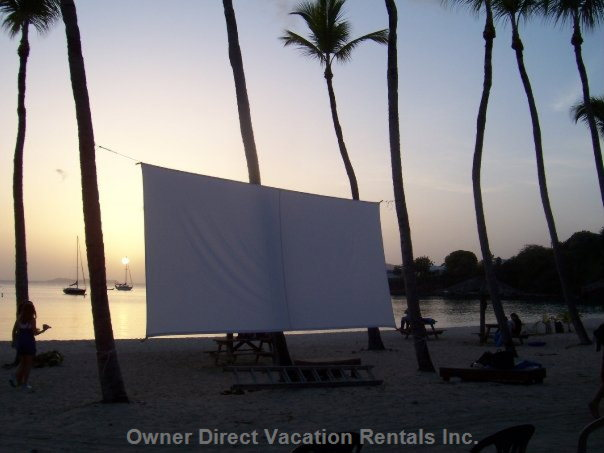 Drive in Movie on the Beach
