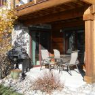 Welcome Home - our Front Patio with Large Propane Grill, Comfy Seating, Sunshine and Mountain Views