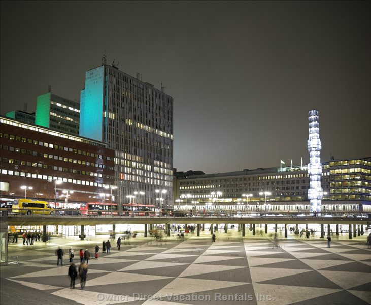 900 Yards to Sergels Torg & Central Station