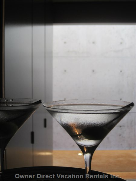 Relax, Enjoy a Martini Next Door at Restaurant.