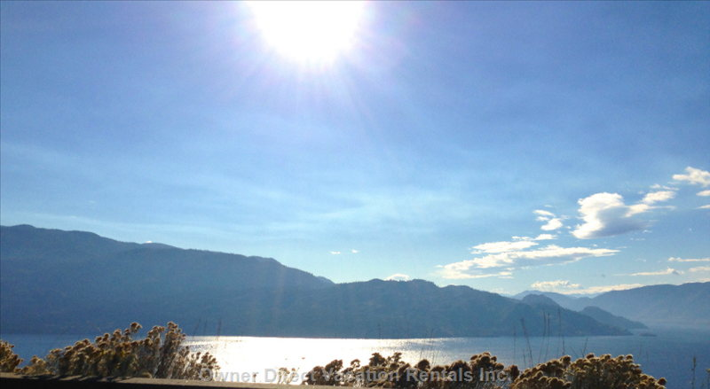 Amazing Views of Lake Okanagan.