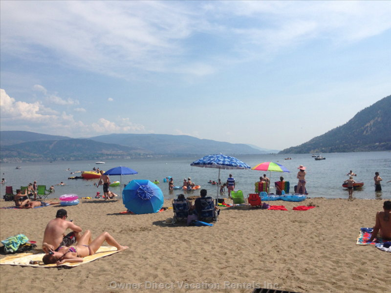 Sunoka-Voted Best Beach in the Okanagan is a Four Minute Drive from the Viewpoint Suite.