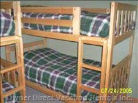 Upstairs Bedroom #2 with Two Sets of Bunk Beds