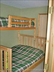 Upstairs Bedroom # 3 Queen Size Bed with Single Bunk Bed