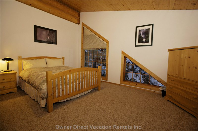 Sun peaks bungalow owner direct Master bedroom upstairs or downstairs