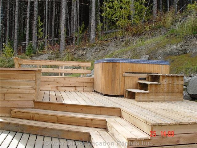 Hot Tub and Barbecue Deck in Late Summer