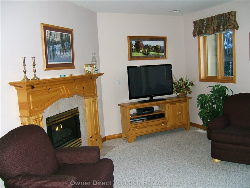 Cozy Gas Fireplace in Living Room