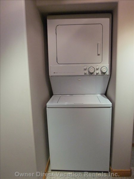 Washer and Dryer in the Suite