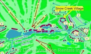 Snow Creek Village Location