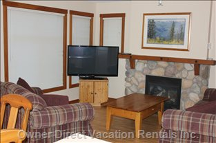 "Living Room, 50"" Tv, Blue Ray and Regular Dvd Player, Wi-Fi Enabled"