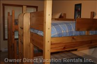 3rd Bedroom: 2 Single over Double Bunks