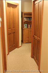 Upstairs Hallway with Bookcase.
