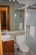 Bathroom Downstairs: Large Shower