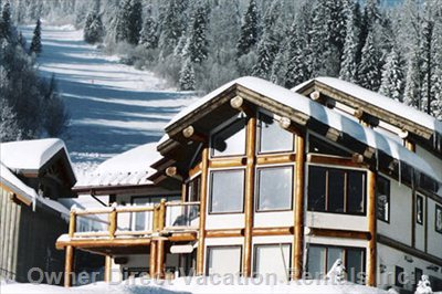 True Ski in Ski out to your Door! - Log Post and Beam with Fabulous Location and Panoramic Views.