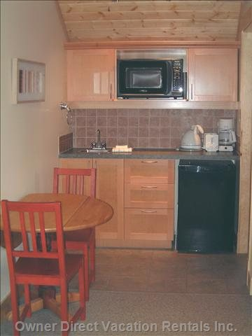Compact, but Fully Equipped Kitchenette and Eating Area