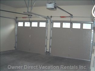 One Bay and Ski Storage in Heated Garage for Studio Guests