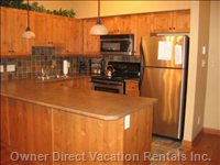 Fully Stocked Kitchen - Eat in with a Fully Stocked Kitchen and Natural Gas Barbecue at your Fingertips.