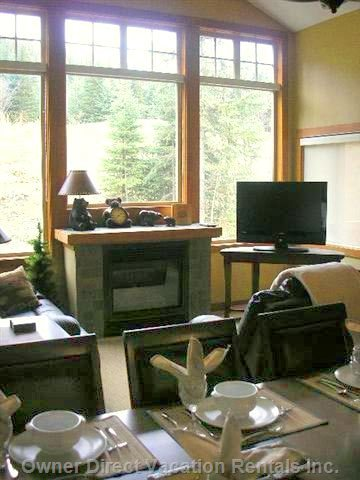 "Living Room -  Lcd 37"" Tv & Gas Fireplace. Open to the Dining Room and Kitchen in 'great Room Style'."