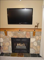 "Living Room - Fireplace and 46"" TV.."
