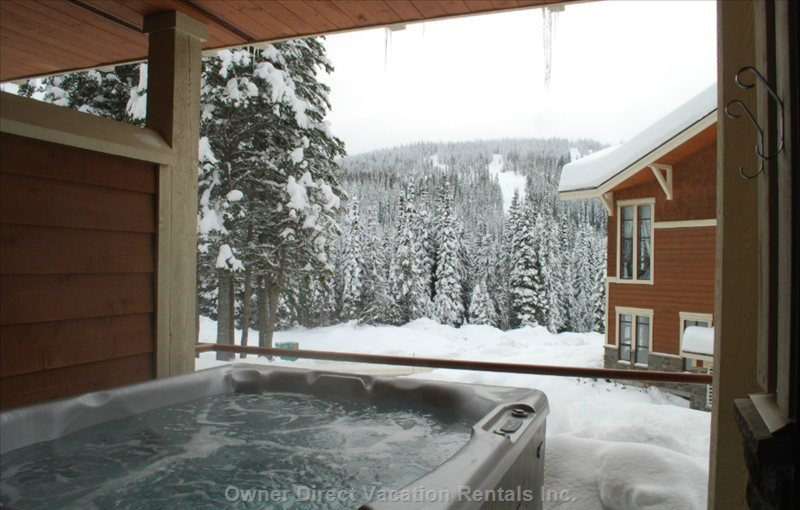 Private Hot Tub on Outdoor Patio