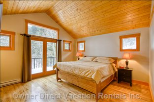 Master Bedroom with Own Deck and Great View (King Bed)
