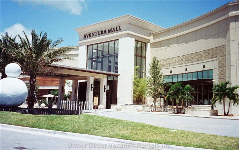 Aventura Mall is Filled with Luxurious Restaurants and Shops. Just a 5 Minute Drive Or a Free Shuttle Bus Ride.