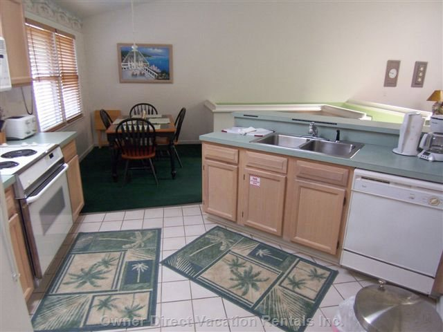 Kitchen and Dining Area as Viewed from the Laundry Room