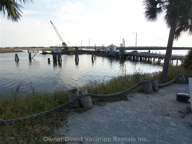Swing Bridge to the Island & Beach--one of a few Left in USA