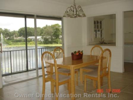 Dining Room with View to the Pond