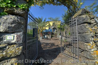 Entrance to the Villa - Secret Garden Gate