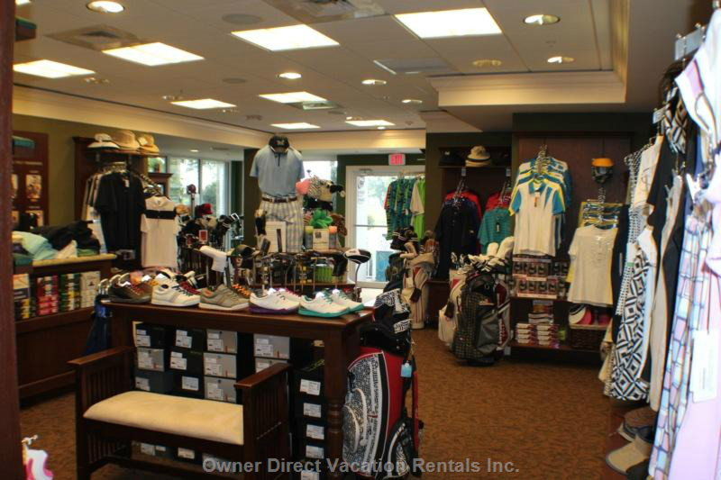 Tara's Fully Equipped Pro Shop.  With in Walking Distance of the Condo.